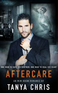 gay romance book cover of Aftercare by Tanya Chris