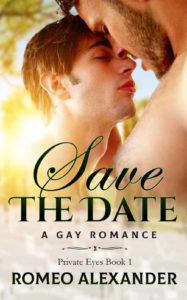 gay romance book cover of Save the Date by Romeo Alexander